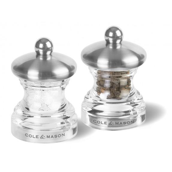 Coffret moulins sel et poivre Button 65 mm