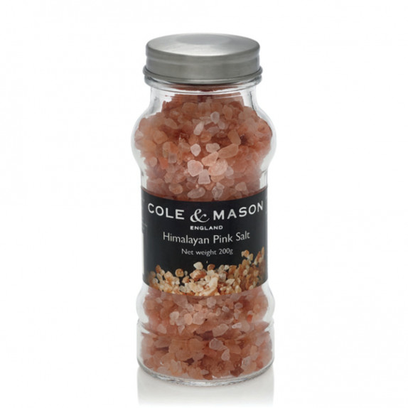 Flacon de sel rose de l'Himalaya